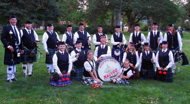 The Nauvoo Pageant Bagpipe Band